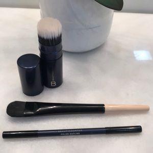 Beautycounter Brushes and Eyeliner Set